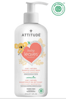 Attitude Baby Leaves Bubble Wash Pear Nectar, 473 ml | NutriFarm.ca