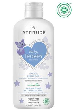 Attitude Baby Leaves Bubble Wash Almond Milk, 473 ml | NutriFarm.ca