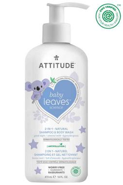 Attitude Baby Leaves 2 in 1 Shampoo Almond Milk, 473 ml | NutriFarm.ca