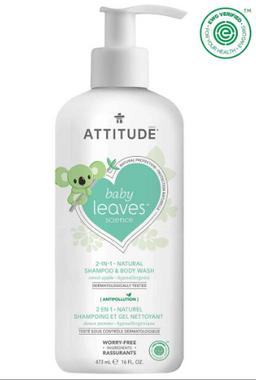 Attitude Baby Leaves 2 in 1 Shampoo Sweet Apple, 473 ml | NutriFarm.ca
