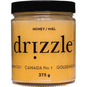 Drizzle Honey Golden Raw Honey, 375 g | NutriFarm.ca