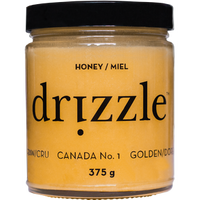 Drizzle Honey Golden Raw Honey, 375 g | NutriFarm.ca