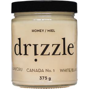 Drizzle Honey White Raw Honey, 375 g | NutriFarm.ca