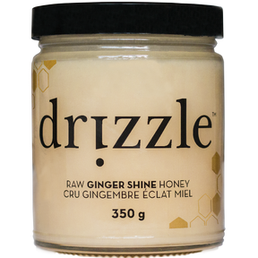 Drizzle Honey Ginger Shine Raw Honey, 350 g | NutriFarm.ca