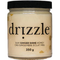 Drizzle Honey Ginger Shine Raw Honey, 350 g | NutriFarm.ca