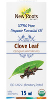 New Roots Clove Leaf Essential Leaf Oil, 15 ml | NutriFarm.ca