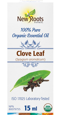 New Roots Clove Leaf Essential Leaf Oil, 15 ml | NutriFarm.ca