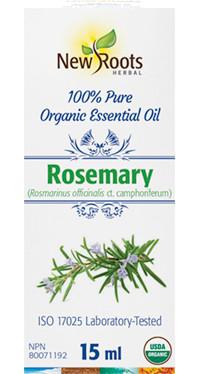 New Roots Rosemary Essential Oil, 15 ml | NutriFarm.ca