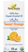New Roots Sweet Orange Essential Oil, 15 ml | NutriFarm.ca