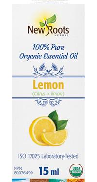 New Roots Lemon Essential Oil, 15 ml | NutriFarm.ca