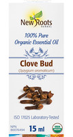 New Roots Clove Bud Essential Oil, 15 ml | NutriFarm.ca