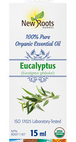 New Roots Eucalyptus Organic Essential Oil, 15 ml | NutriFarm.ca