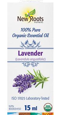 New Roots Lavender Organic Essential Oil, 15 ml | NutriFarm.ca