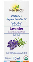 New Roots Lavender Organic Essential Oil, 15 ml | NutriFarm.ca