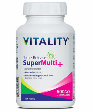 Time Release Super Multi+ 60 Days, 60 tablets   NutriFarm.ca