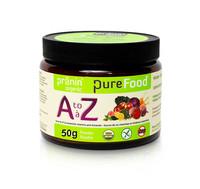 Pranin Organic PureFood A-Z, 50 g | NutriFarm.ca