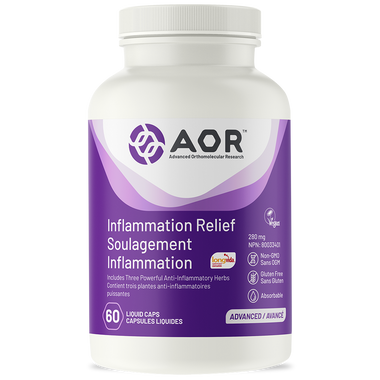 AOR Inflammation Relief, 60 Liquid Caps | NutriFarm.ca