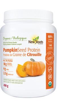 New Roots Pumpkin Seed Powder, 450 g   NutriFarm.ca