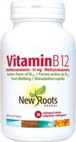 New Roots Vitamin B12, 30 sublingual tablets | NutriFarm.ca