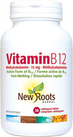 New Roots Vitamin B12, 30 sublingual tablets | NutriFarm.ca