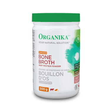 Organika Bone Broth Beef Ginger, 300 g | NutriFarm.ca