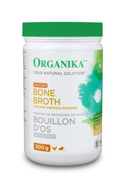 Organika Bone Broth Chicken Ginger, 300 g | NutriFarm.ca