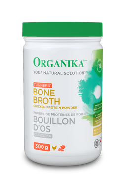 Organika Bone Broth Chicken Tumeric, 300 g | NutriFarm.ca