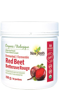 New Roots Fermented Red Beet, 150 g | NutriFarm.ca
