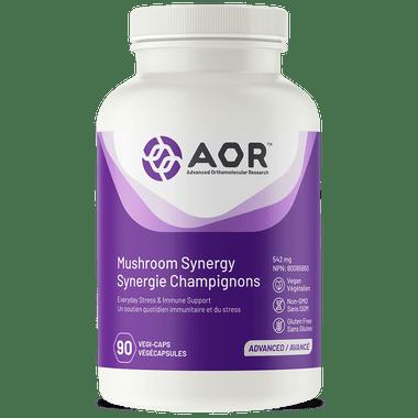 AOR Mushroom Synergy, 90 Capsules | NutriFarm.ca