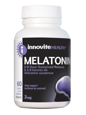 Innovite Melatonin Sustained Release 3mg, 60 Caps   NutriFarm.ca