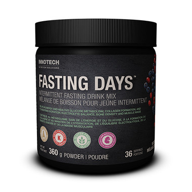Innotech Fasting Days Intermittent Fasting Support(Mixed Berry), 360 g| NutriFarm.ca