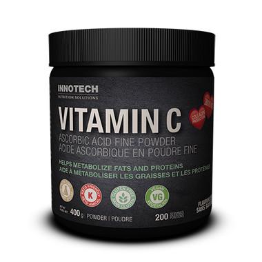 Innotech Vitamin C Ascorbic Acid fine powder, 400 g | NutriFarm.ca