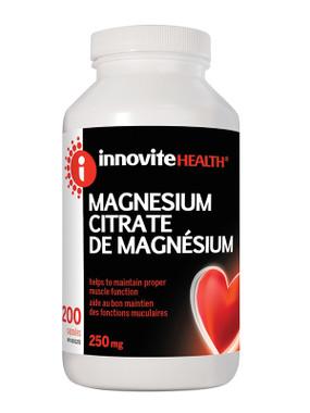 Innovite Magnesium Citrate 250 mg,  200 Caps | NutriFarm.ca