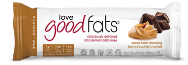 Love Good Fats Peanut Butter Chocolate Snack Bars, 1 box (12 bars)  | NutriFarm.ca
