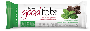 Love Good Fats Mint Chocolate Chip Snack Bars, 1 box | NutriFarm.ca