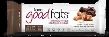 Love Good Fats Rich Chocolatey Almond Snack Bars, 1 box | NutriFarm.ca