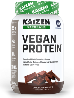 Kaizen Vegan Protein Chocolate, 840 g | NutriFarm.ca