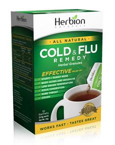 Herbion Cold and Flu Remedy, 10 Sachets | NutriFarm.ca