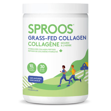 Sproos Grass-Fed Collagen (Unflavoured), 300 g   NutriFarm.ca