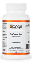 Orange Naturals B Complex, 45 Vegetable Capsules | NutriFarm.ca