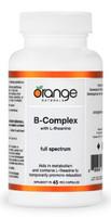 Orange Naturals B Complex, 45 Vegetable Capsules | NutriFarm.ca