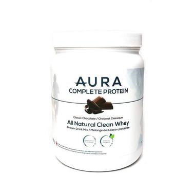 AURA Complete Protein Chocolate, 500 g | NutriFarm.ca