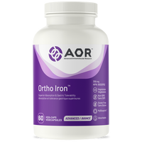 AOR Ortho Iron, 60 Vegetable Capsules | NutriFarm.ca