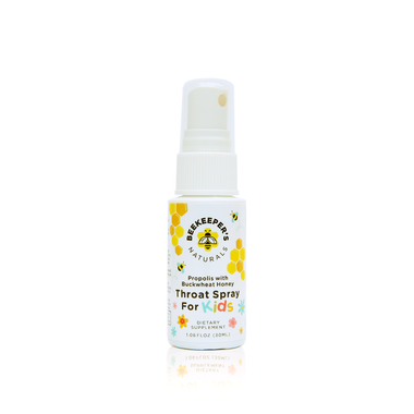 Beekeeper's Naturals Propolis Throat Spray for Kids, 30 ml | NutriFarm.ca