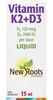 New Roots Vitamin K2+D3, 15 ml | NutriFarm.ca