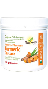 New Roots Fermented Turmeric, 150 g | NutriFarm.ca
