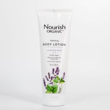 Nourish Organic Hydrating Body Lotion Lavender Mint, 236 ml | NutriFarm.ca