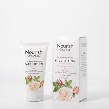 Nourish Organic Lightweight Moisturizing Face Lotion, 50 ml   NutriFarm.ca