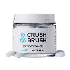 Nelson Naturals Crush and Brush Mint(in a glass jar), 60 g | NutriFarm.ca