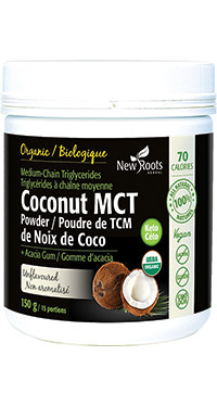 New Roots Coconut MCT Powder, 150g | NutriFarm.ca